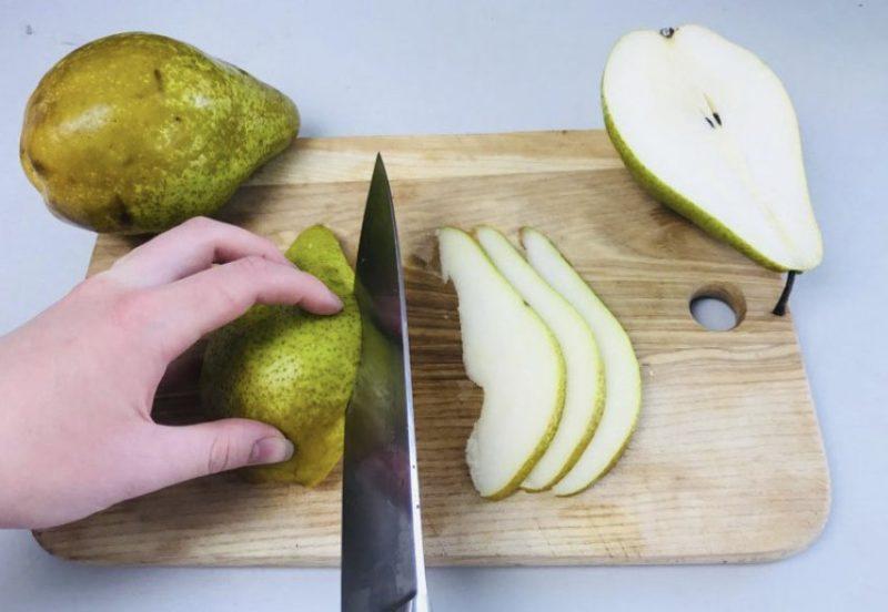 хранение груш в холодильнике.
